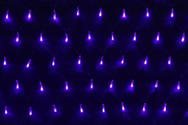 LEDイルミネーションネットライト常時点灯V4 180球パープル高さ:1m幅:2m