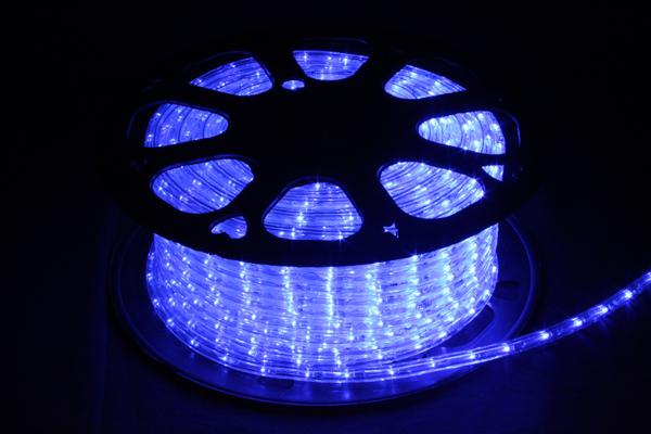 LEDイルミネーションチューブライト10mm*50m1800球 ブルー
