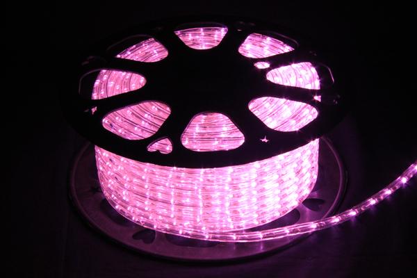 LEDイルミネーションチューブライト10mm*50m1800球ライトピンク