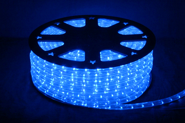 LEDイルミネーションチューブライト13mm*50m1800球ブルー