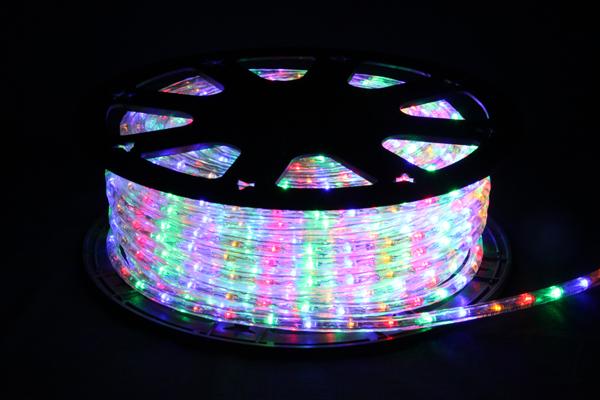 LEDイルミネーションチューブライト10mm*50m1800球(レッド、イエロー、ブルー、グリーン)