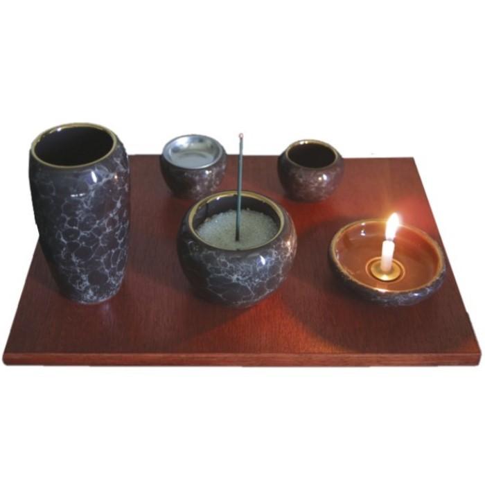 アクア【緑・ピンク・青・瑠璃・黒・赤茶・茶】 仏具 佛具 仏壇 仏具セット シンプル仏具 コンパクトサイズ メモリアル ペット可