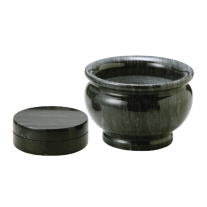焼香用香炉 黒大理石香炉 6寸 香炉 仏具 佛具 仏壇 供養