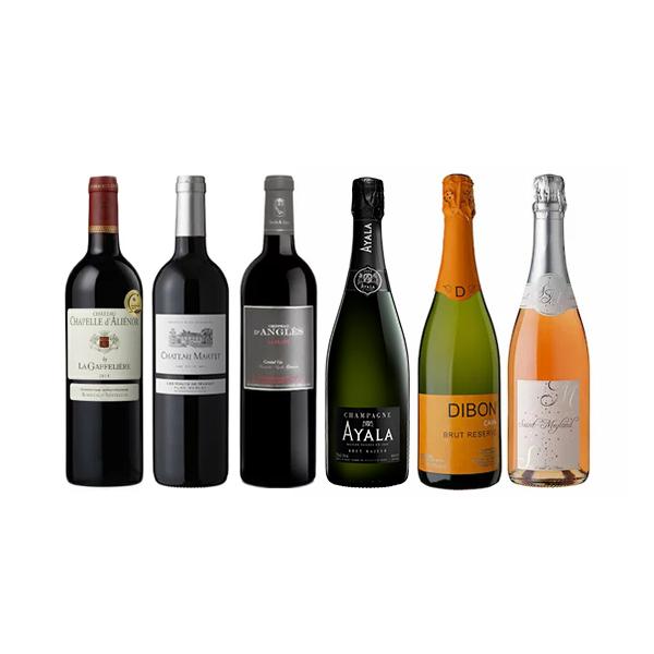 【送料無料】当店人気の赤&泡!シャンパン アヤラが入ったワイン6本セット[常温/冷蔵]【3~4営業日以内に出荷】【送料無料】