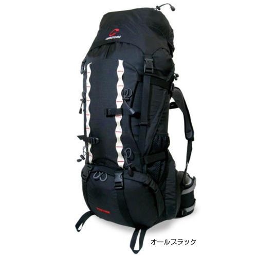 パンサー セロトーレ テント泊用大型ザック、リュックサック、バックパック、60リットル~70リットル、全3色(ブラック、レッド、インク)ヒップベルトで荷重を支え荷重分散出来るので肩や腰が痛くならず抜群の安定感とフィット感。背面調整式、男女兼用。