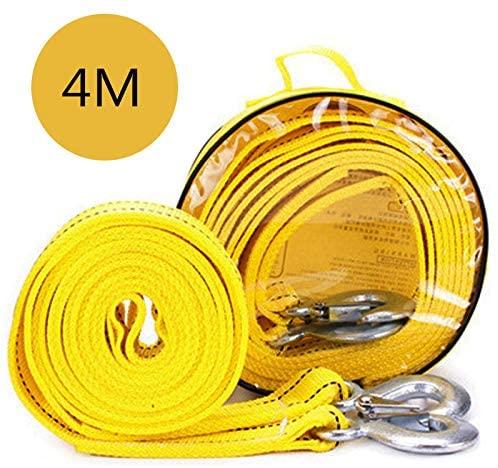 送料390円 牽引ロープ 4m 車の牽引 引出物 吊荷 頑丈 5tまでOK 軽量 特価 けん引ロープ
