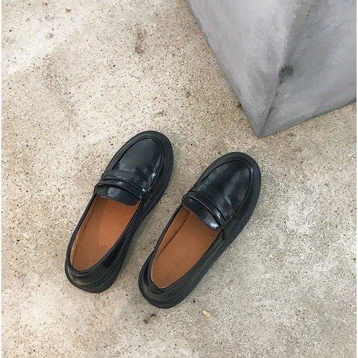 出色 70%OFFアウトレット 送料無料 学生用ローファー革靴 2カラー22.5#12316;24.5cm コスプレも通学 ブラウン 制服 ブラック