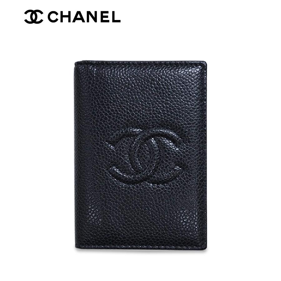 CHANEL【シャネル】 たて型 名刺入れ(パスケース) CC ココ シグネチャー ブラック A80821