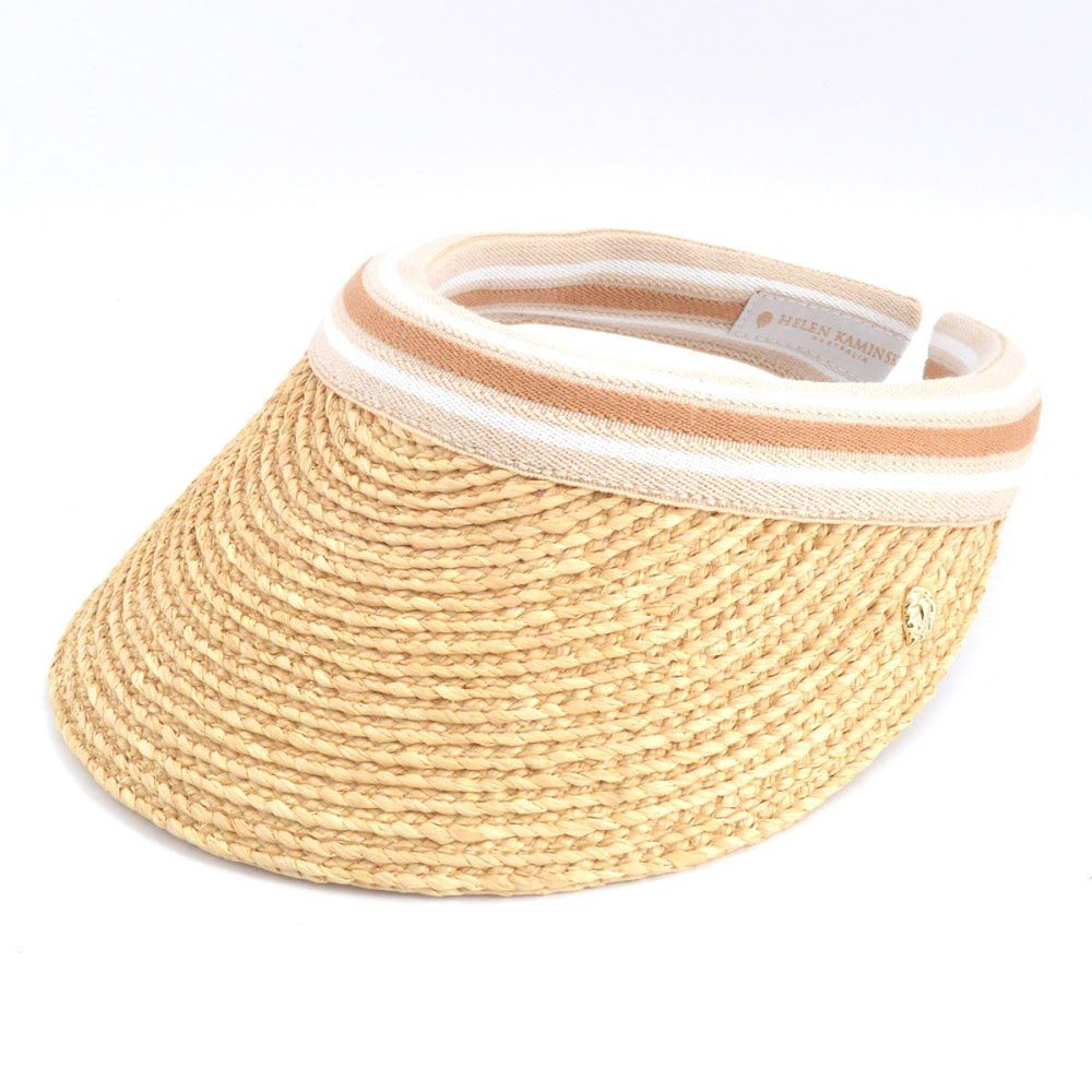 ヘレンカミンスキー HELEN KAMINSKI Marina Natural Nougat Stripe 2016SS マリーナ UPF50+ サンバイザー ラフィア製ハット レディス帽子