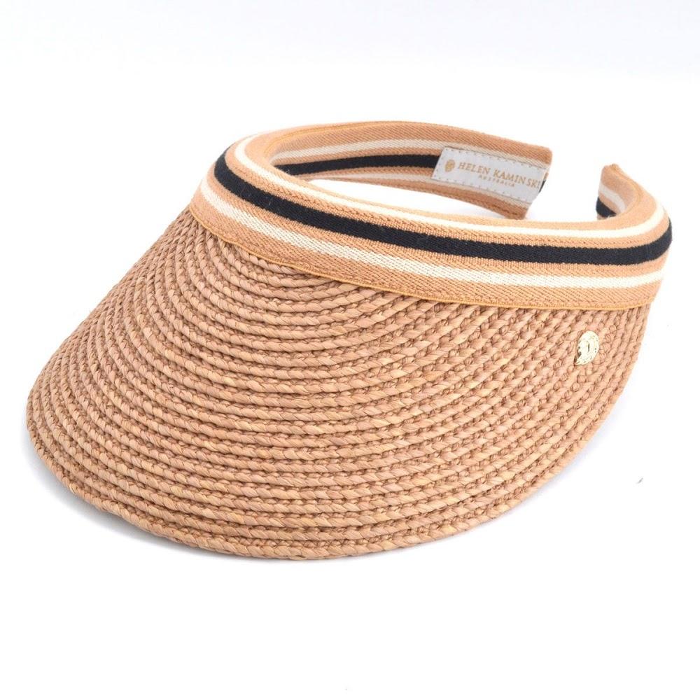 ヘレンカミンスキー HELEN KAMINSKI Marina Nougat Black Stripe 2016SS マリーナ UPF50+ サンバイザー ラフィア製ハット レディス帽子