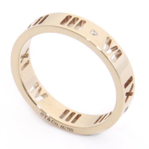 ティファニー アトラス リング ダイヤモンド 18R US5.0 日本サイズ9号 30480716