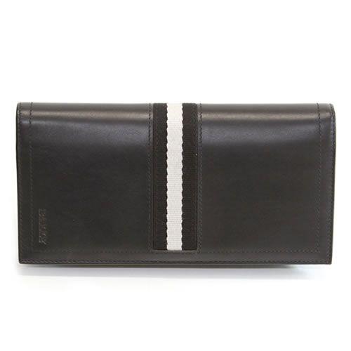 バリー TALIRO 290 BLACK ファスナー小銭入れ付 二つ折り長財布 カーフ