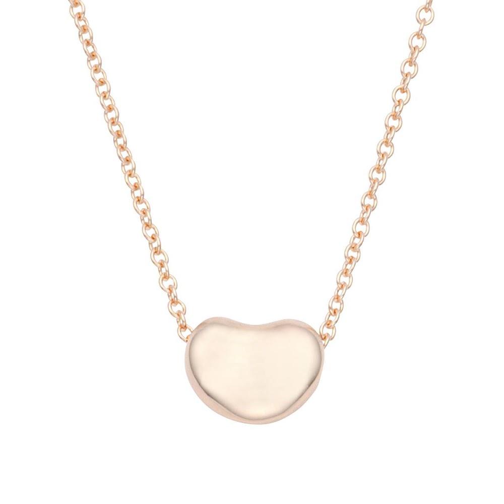 c193430e8 Tiffany TIFFANY&CO 60957339 エルサペレッティビーン 7mm pendant necklace 18KRG 41cm