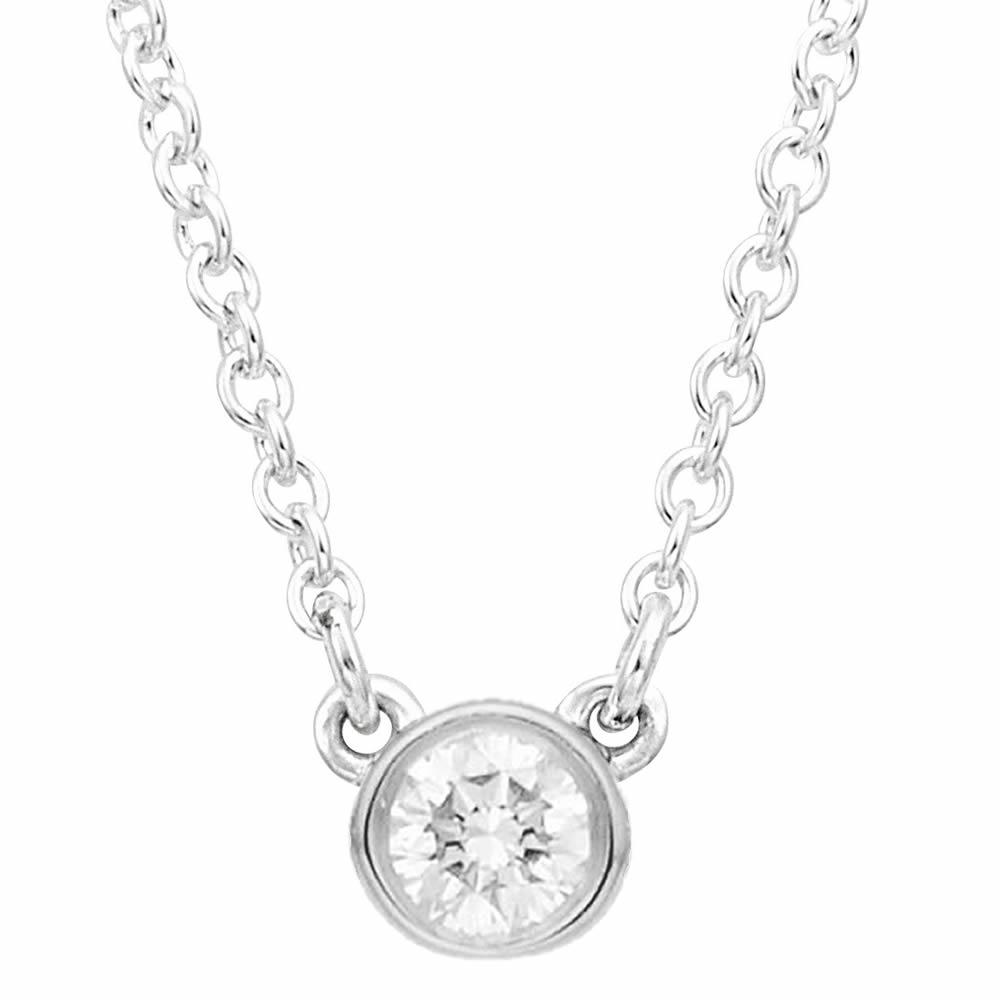 ティファニー TIFFANY&CO 11447856 ダイヤモンド バイ ザ ヤード゙ ペンダント ネックレス PT プラチナ 0.14ct 41cm