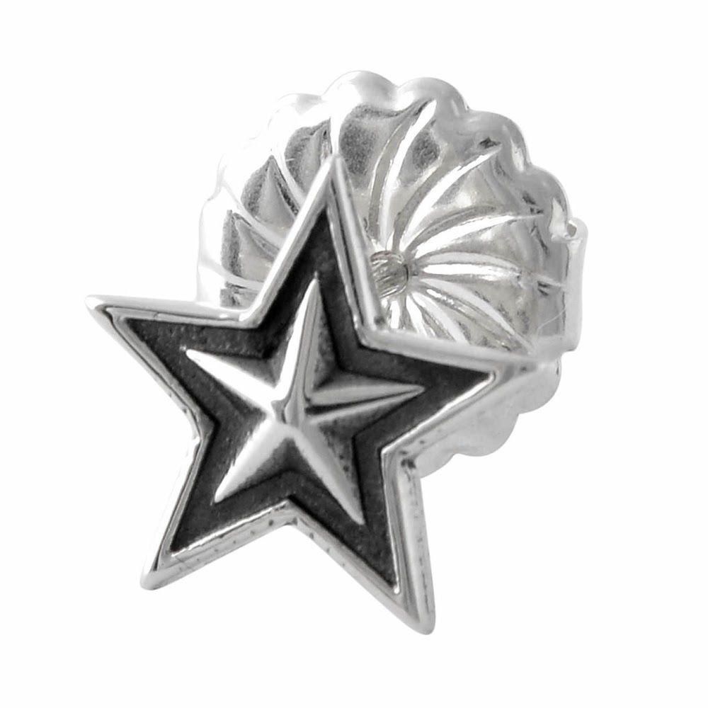 コディサンダーソン CODY SANDERSON WC4-01-004-single スモールスター スタッド シングル ピアス 片耳用 Small star stud single pierced earring