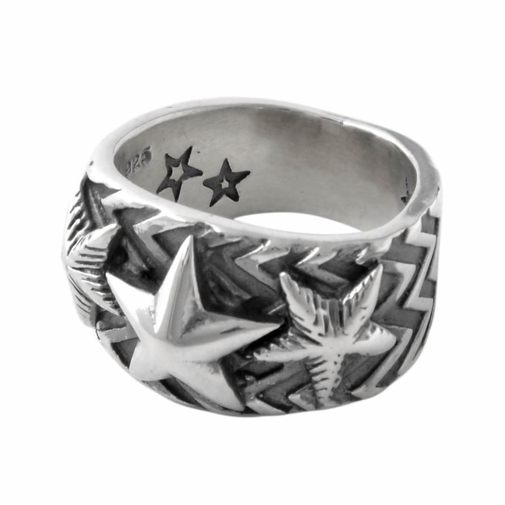 コディサンダーソン CODY SANDERSON C2-01-009-7.5 ウエーヴギア スリースター リング 指輪 US7.5 日本サイズ15号相当 Wave gear 3 star ring 0.5in