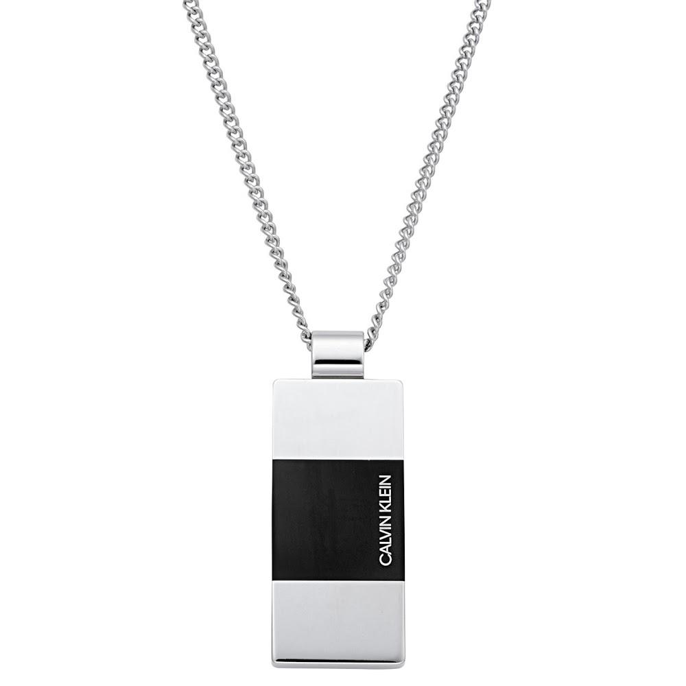 カルバンクライン Calvin Klein KJ9LMP280100 ロゴプレート ペンダント ネックレス STRONG