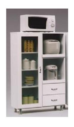 トラビィス 80幅レンジ台(カップボード・ダイニングボード・キッチンボード・水屋・食器棚・食器収納・キッチン収納)【ホワイト(白)】