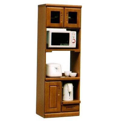 オリビア 60cm幅収納型レンジ1型 ( 木製 )( シンプル )( レンジ台 食器収納 食器棚 家電収納 キッチン収納 カップボード キッチンカウンター)