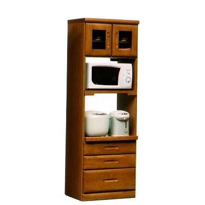 オリビア 60cm幅収納型レンジ2型 ( 木製 )( シンプル )( レンジ台 食器収納 食器棚 家電収納 キッチン収納 カップボード キッチンカウンター)