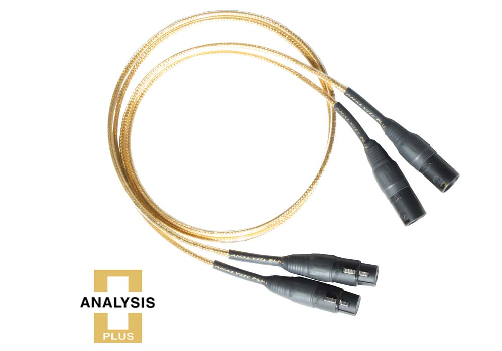 【納期1ヶ月】 ゴールデンオーバル 1.5m XLR ラインケーブル 1本 Analysis Plus 純金 中空楕円構造 マイクケーブル 高級 Golden Oval アナリシスプラス 150cm 送料無料