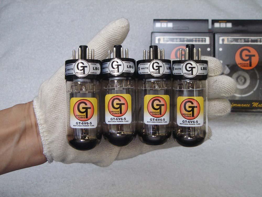 アグレッシブなパワー GT- 6V6S QT (カルテット) 4本 セット販売 パワー管 グルーブチューブ ヨーロッパ製 真空管 ギターアンプ チューブ アンプギター 6V6シリーズ Groove Tubes 送料無料 あす楽