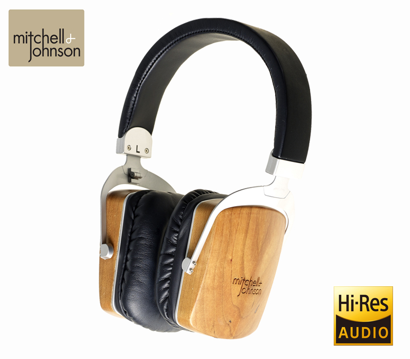 MJ2 ヘッドフォン Mitchell and Johnson ハイレゾ Hi-Fi ハイエンドオーディオ 高音質 コンデンサー ダイナミック Electrostatz エレクトロスタッツ セルフバイアス モニター 密閉型 バランス対応 木製 ウッド チェリーウッド 折りたたみ コンパクト イギリス製