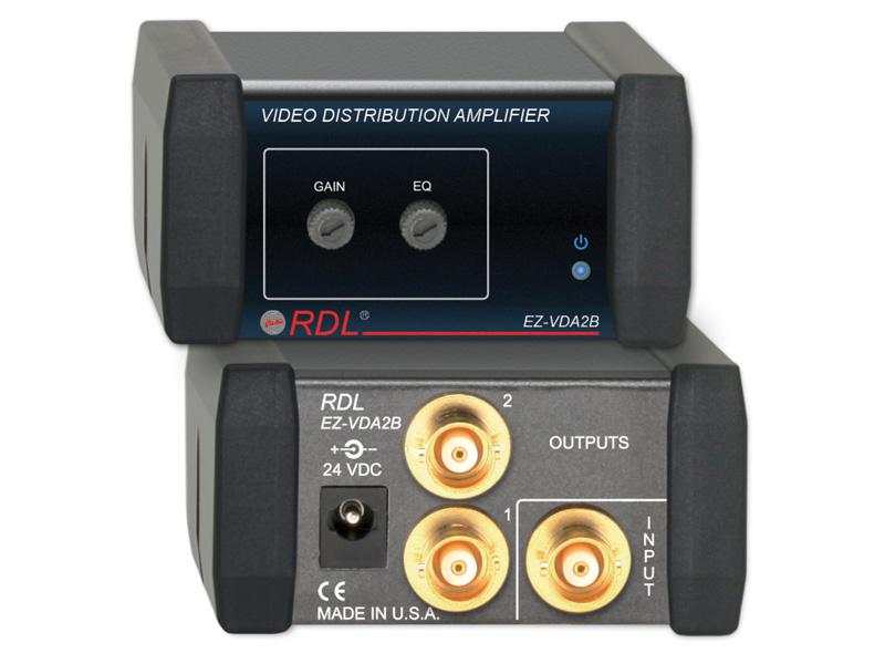 RDL EZ-VDA2Bビデオディストリビューションアンプ -1×2 BNC NTSC/PAL【送料無料】