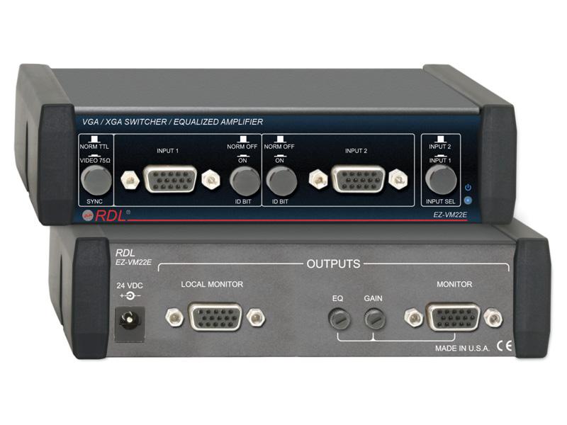 【送料無料】RDL EZ-VM22EVGA/XGAスイッチャ―/イコライザーアンプ -2入力、2出力