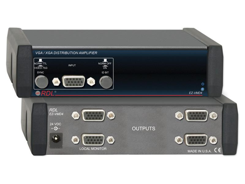 【送料無料】RDL EZ-VMD4VGA/XGA ディストリビューションアンプ -1×4
