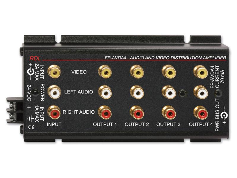 【送料無料】RDLFP-AVDA4ステレオオーディオ/ビデオディストリビューションアンプ -1×4 -RCAジャック【smtb-u】