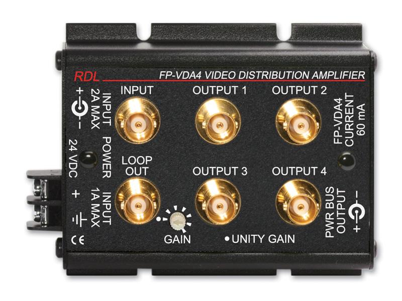 RDL FP-VDA4 NTSC/PALビデオディストリビューションアンプ -1×4 -BNC【送料無料】