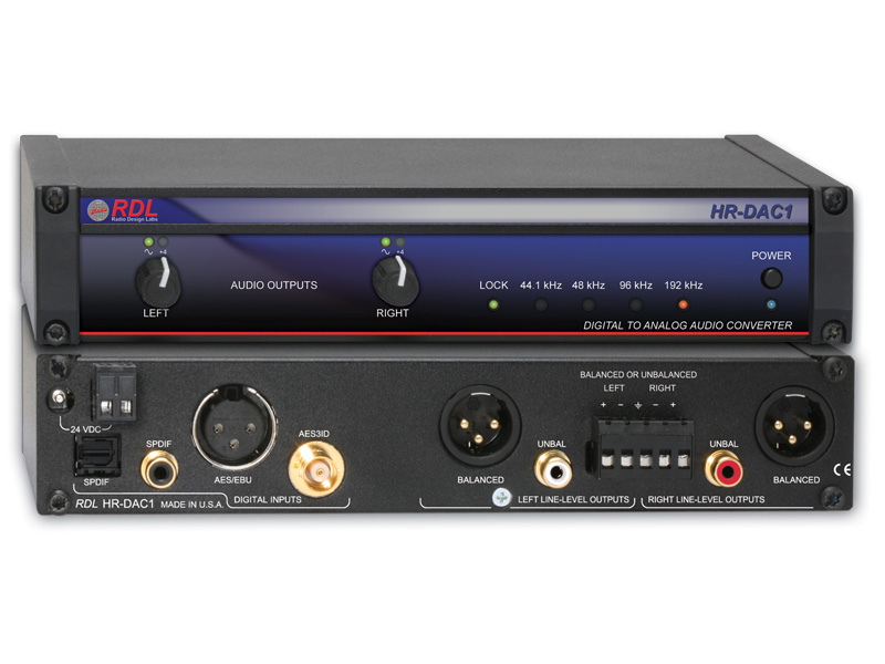 RDL HR-DAC1 デジタル-アナログオーディオコンバーター  24bit, 192kHz【送料無料】