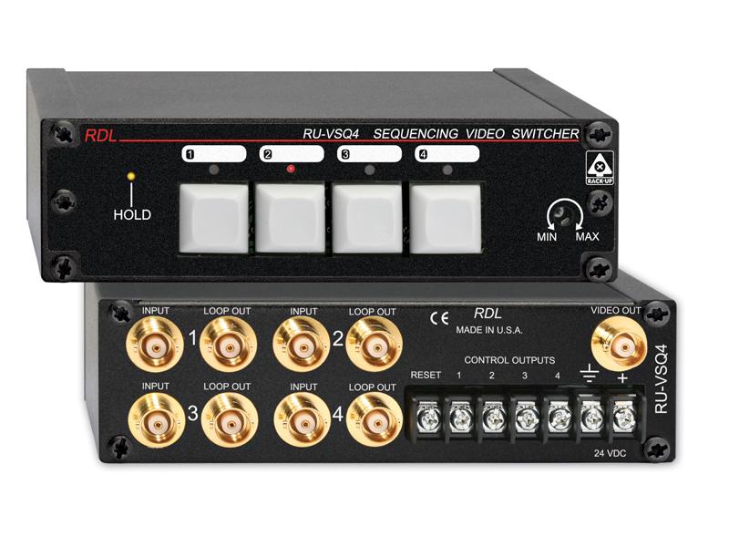RDL RU-VSQ4 シーケン・ビデオスイッチャー -4×1 -BNC【送料無料】