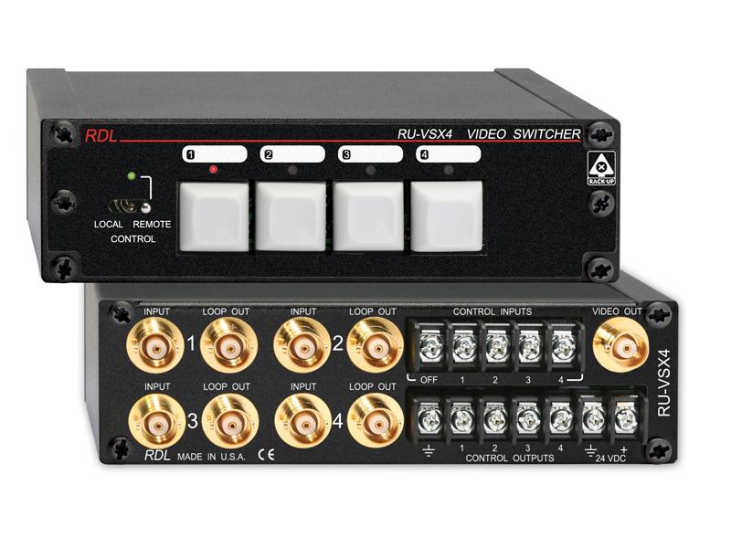 RDL RU-VSX4 ビデオスイッチャー -4×1 -BNC【送料無料】