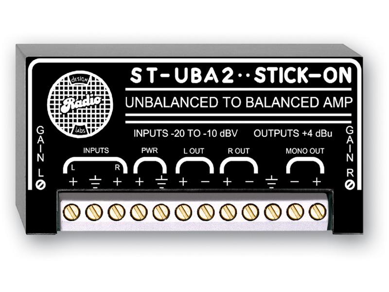RDL ST-UBA2 アンバランスからバランスへのアンプ   -2チャンネル STICK-ON®シリーズ【送料無料】