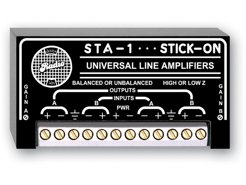 RDL STA-1 デュアル バランス /アンバランスラインアンプ-12~20dBゲイン 【送料無料】