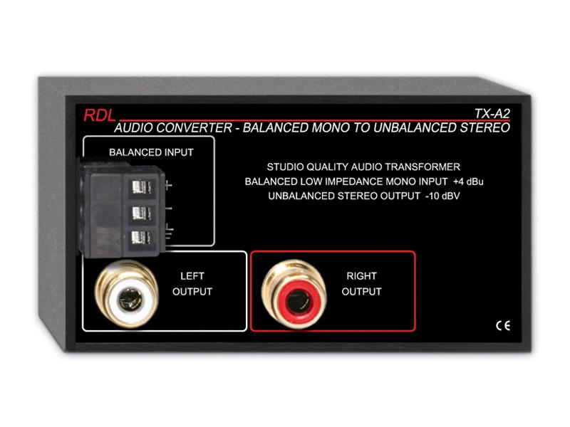 RDL TX-A2 オーディオコンバーター ‐バランス~アンバランス【送料無料】
