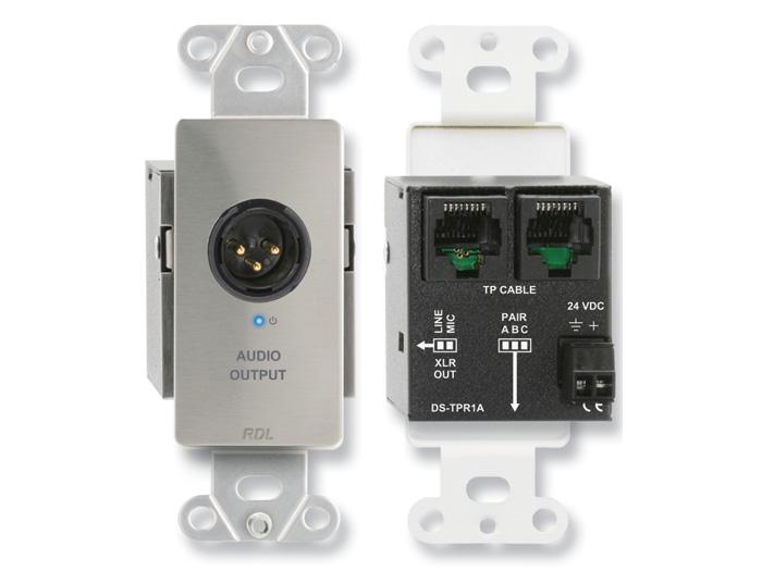 【送料無料】RDL DS-TPR1Aアクティブシングルペア受信機ツイストペアFormat-AXLRマイク/ライン出力
