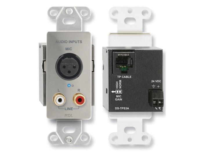 RDL DS-TPS3A アクティブ3ペア送信機 ツイストペアFormat-A XLRマイク&ステレオRCA入力 【送料無料】