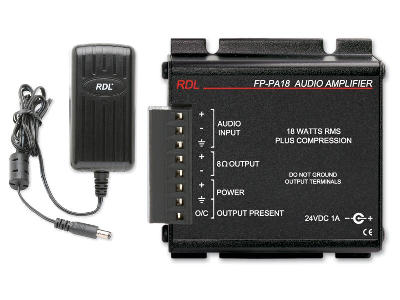 RDL FP-PA18H パワーサプライ装備、18W高温対応オーディオアンプ-8Ωパワーサプライ付属 【送料無料】