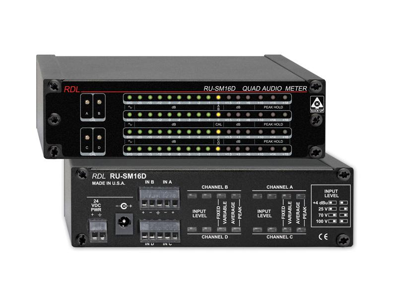 RDL RU-SM16D 4チャンネルオーディオメーター【送料無料】【smtb-u】