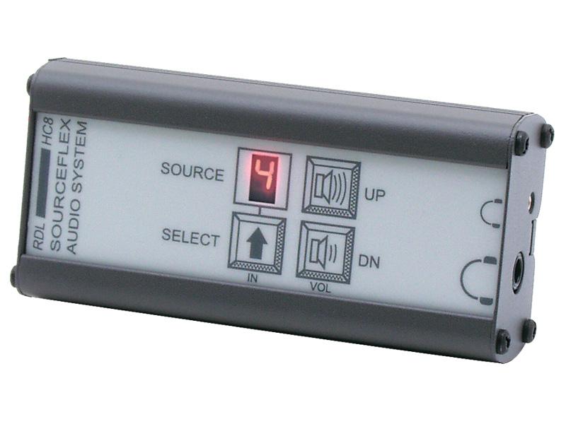 RDL SAS-HC8 ヘッドフォンアンプ -SourceFlex™ディストリビューションオーディオシステム用ソース選択機能付き 【送料無料】
