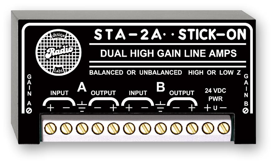 RDL STA-2A デュアルハイゲインラインアンプ  STICK-ON(R)シリーズ【送料無料】