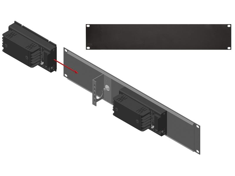 RDL FP-RRA FLAT-PAK#8482;モジュール用 背面ラックアダプター -19インチ固定 送料無料