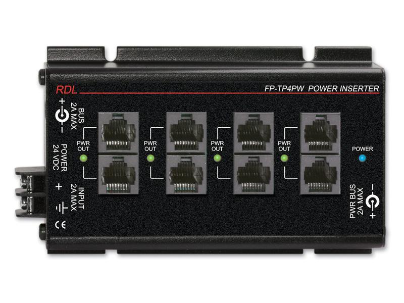 RDL FP-TP4PW パワーインサーター ツイストペア -出力4セット 信号ループ・スルー 送料無料