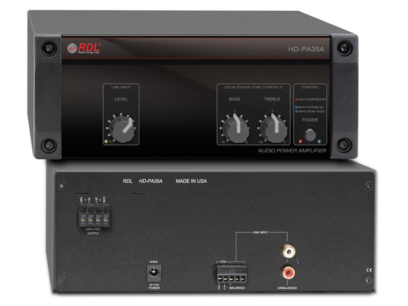 RDL HD-PA35A パワーサプライ付属 35Wミキサーアンプ - 定電圧出力 25V-70V-100V 送料無料