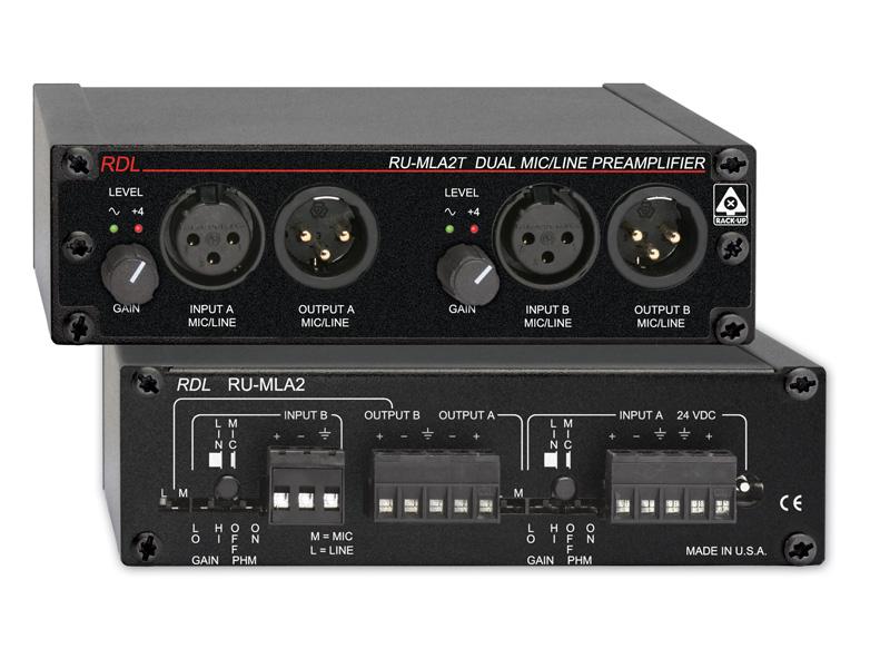 RDL RU-MLA2T デュアルマイク/ラインプリアンプ【送料無料】