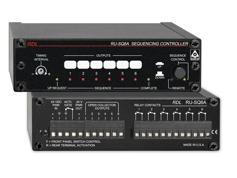 RDL RU-SQ6A A シーケンスコントローラー 電源オン/オフ RUシリーズ 送料無料