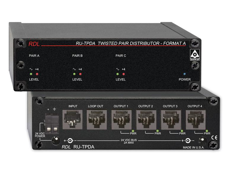 RDL RU-TPDA アクティブディストリビューター ツイストペアFormat-A RDL Formmat-A入力を4出力【送料無料】
